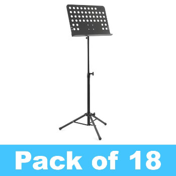 Tiger Pack of 18 Orchestral Music Stands - New Improved Design