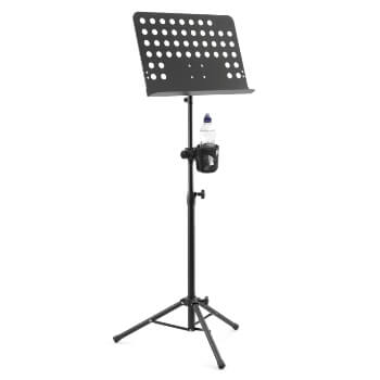Tiger Orchestral Sheet Music Stand and Cup Holder with Height and Angle Adjustment