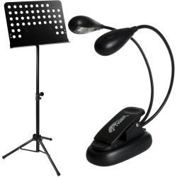 Tiger Orchestral Sheet Music Stand and Music Stand Light Pack