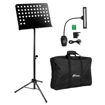 Tiger Orchestral Music Stand, Bag & Stand Light Package