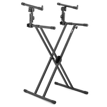 New for 2018 - 2 Tier Double Braced X Frame Keyboard Stand