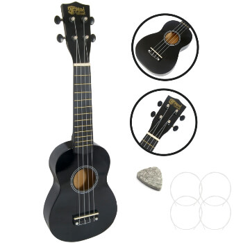 Soprano Ukulele by Mad About - Black