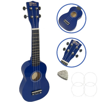 Soprano Ukulele by Mad About - Blue