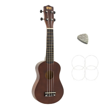 Soprano Ukulele in Dark Wood