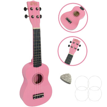 Soprano Ukulele by Mad About - Pink