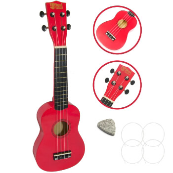 Soprano Ukulele by Mad About - Red