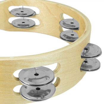 Tiger 8 Double Row Wood Tambourine