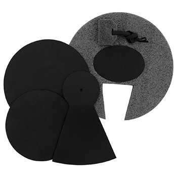 "Tiger Junior Drum Kit Silencer Pads set, 12"", 10"", 8"" Drum Pads & 10"" Cymbal Pad"