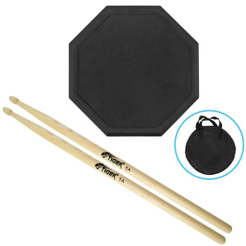 Tiger Drum Practice Pad with Drum Sticks