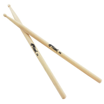 Tiger 5B Hickory Drumsticks with Wooden Tips