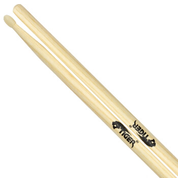 Tiger Hickory Drumsticks with Nylon Tips