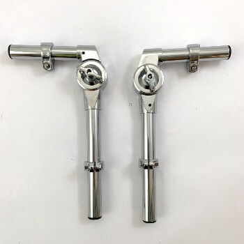 Chrome Tom Arm Holders for Junior Drum Kit - Pair
