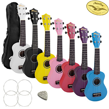 Tiger Soprano Ukulele for Beginners with FREE Uke Bag