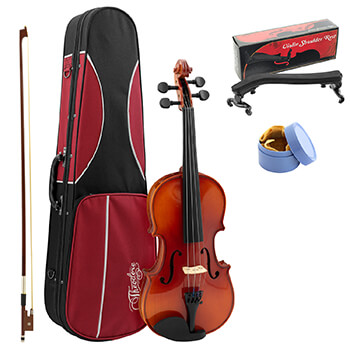 Theodore Student Violin Setup - Beginners 3/4 Size Solid Spruce Top