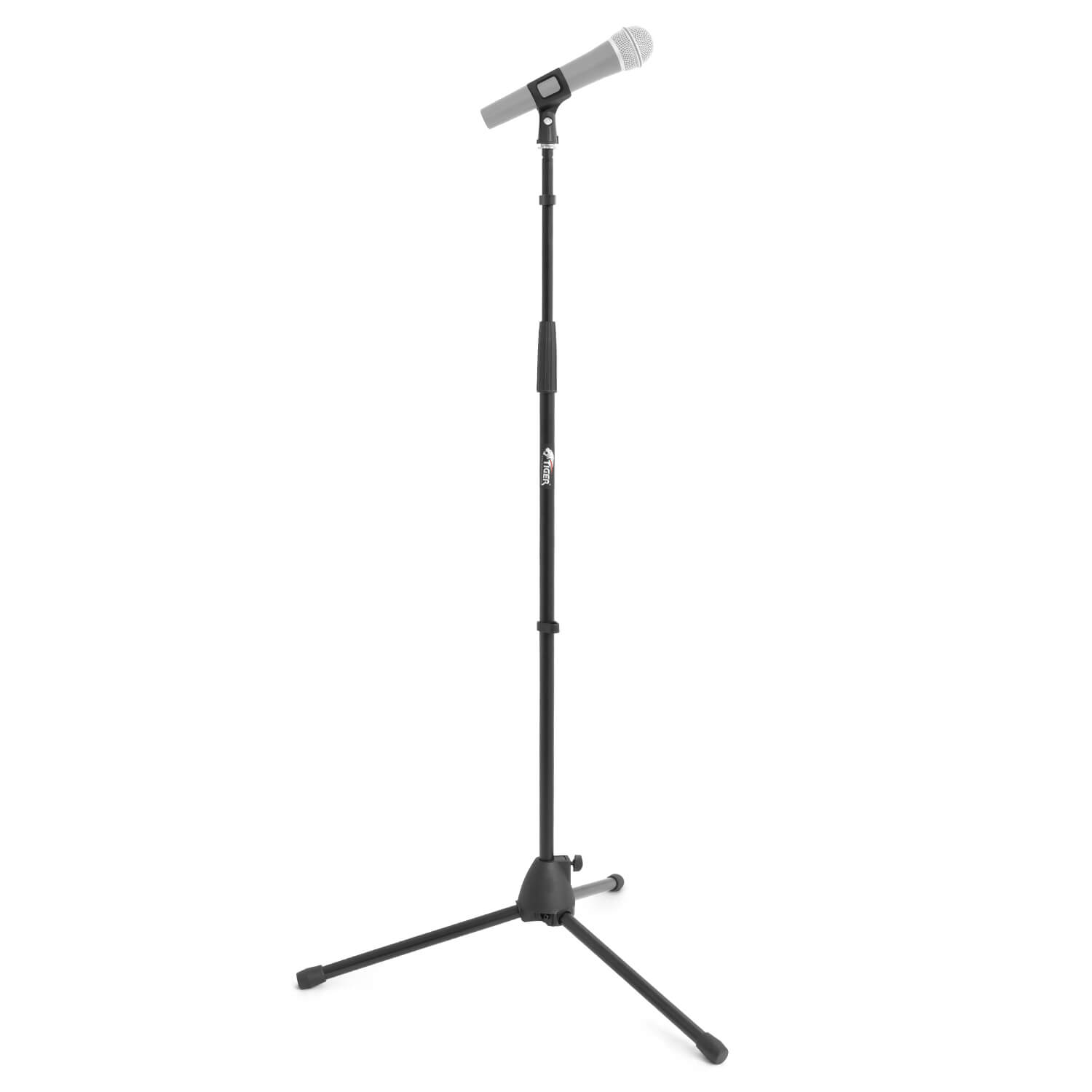 tiger straight microphone stand with tripod base adjustable mic stand ebay. Black Bedroom Furniture Sets. Home Design Ideas